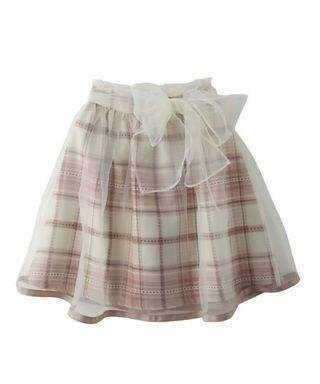 白紗格仔短裙