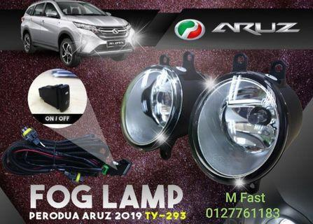 PERODUA ARUZ 2019 OEM FOG LIGHT / LAMP WITH WIRING KIT AND ON / OFF SWITCH