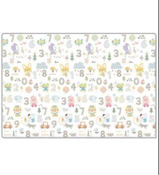 Parklon Pororo Fruit Land number silky soft play mat (230 x 140cm)