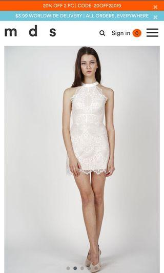 mds Friesha Lace Dress in White