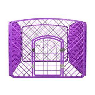 Durable Purple Play Pen for Small Animals (Large)