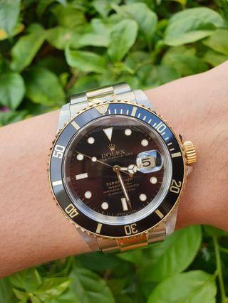 *Transitional Model* 18kt Two-tone Rolex Submariner Ref. 16613