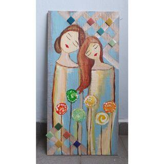 Mother & Daughter - Decorative Painting