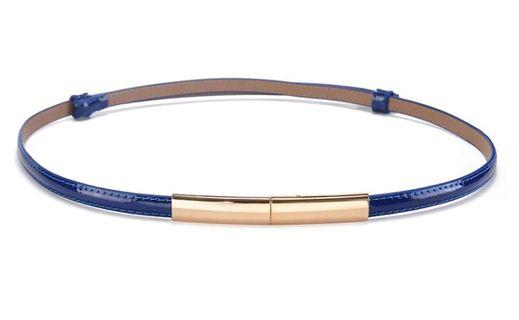 Blue sleek belt