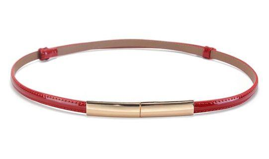 Red sleek belt