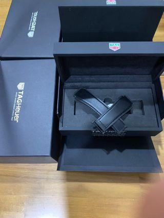 100%  Authentic Tag Heuer Modular 45 Leather strap Black