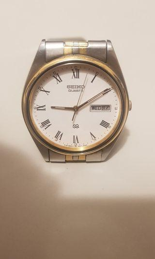 SEIKO 精工 古董 石英錶 30mm 非 alba citizen oris Rolex omega