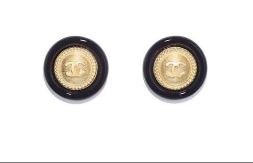 🚚 CHANEL 復古大圓耳環vintage