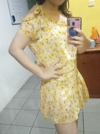 👍Cavallier Cute Kawaii Flowery sabrina Dress