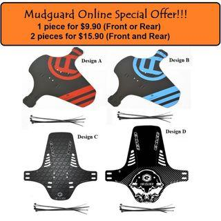 MTB MudGuard for Bicycle 1 for $9.90, 2 for $15.90, Ass-Save $5