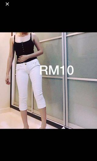 3/4 Cropped Jeans Pants
