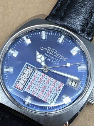 古董德國 Alplex 自動上弦萬年曆手錶