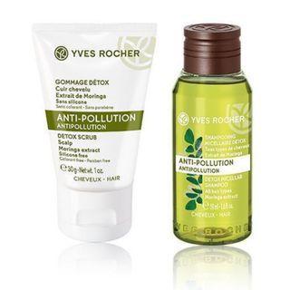 BN Yves Rocher Anti-Pollution Micellar Shampoo and Detox Scrub Trial Kit