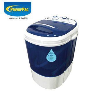 BN [2YR WARRANTY] PowerPac 2in1 Mini Washing Machine - 15 Mins Fast Laundry (PPW820)
