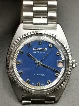 古董 Citizen 全鋼自動上弦日曆手錶
