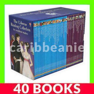 Usborne Reading Collection for Confident Readers Box Set (4th Fourth Library) - 40 Books