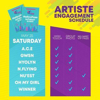 🚚 [EARLY WTT] HallyuPopFest 2019 Day 1 Hallyu Pass - Artist Engagement