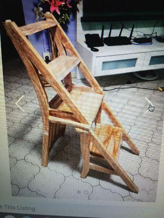 🚚 Wooden Chair Turns into Ladder