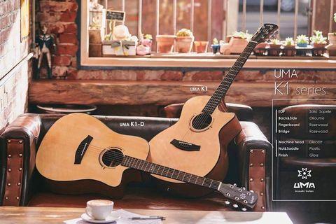 台灣馬叔叔推介! UMA K1 GUITAR SOLID TOP 單板鋼弦木結他 吉他 初學結他 木吉他