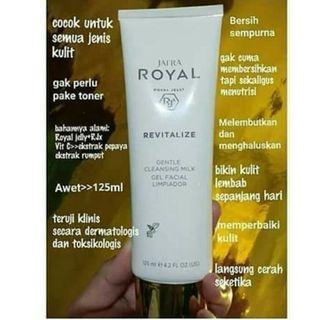 Revitalize gentle cleansing milk gel facial