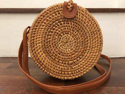 Handmade Round Rattan Bag
