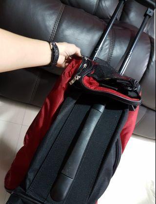 Nice red multi-purpose trolley bag
