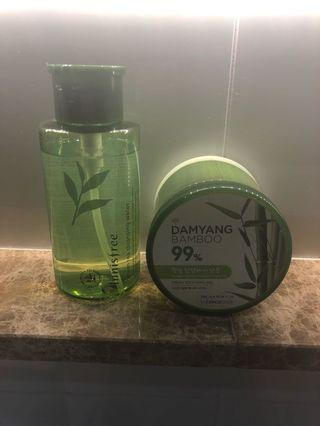 🚚 Make up remover cleanser and bamboo gel
