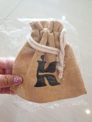 [NEW] Pouch Makeup Kiehl's Brown Gunny Pouch