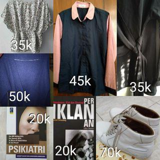 Kemeja, blouse, sepatu, JUAL MURAH
