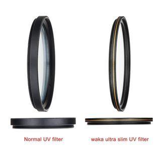 3824. MC 55mm UV Filter - Ultra Slim 16 Layers Multi Coated Ultraviolet Protection Lens Filter for Canon Nikon Sony DSLR Lens