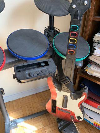 Rock band/band hero wii set