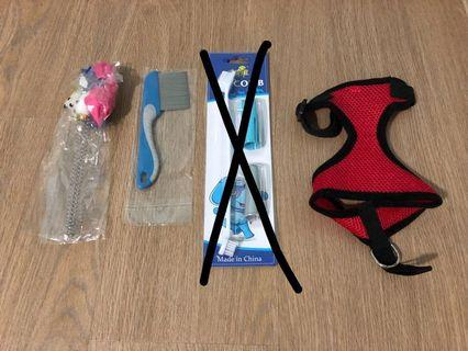 🚚 Comb, toy, harness