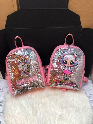 RANSEL ANAK SEQUIN UNICORN, LOL