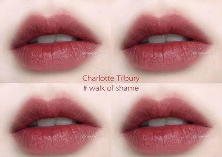charlotte tilbury 霧面質感唇膏/walk of sham(深紅)