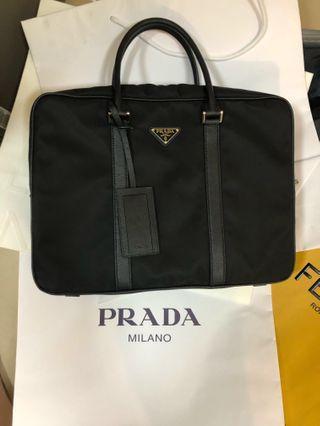 Prada men's business bag 尼龍公事包