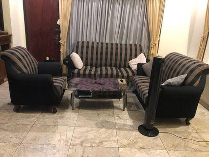 Sofa set 3+2+1 seater dengan coffee table