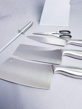 Knife set with stand