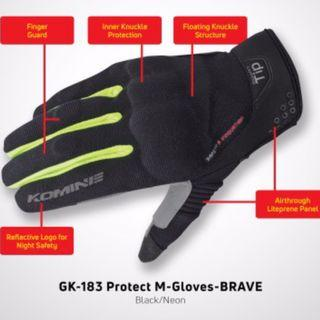 Komine Motorcycle Gloves GK-183 - Smartphone compatible
