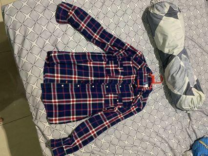 H&M Kemeja Flannel Shirt Beli di Thailand
