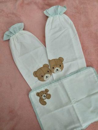 3pcs Bear Pillow Case