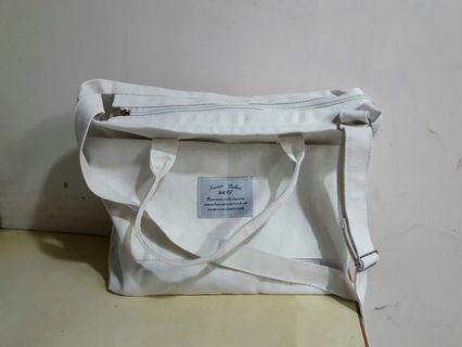 韓系帆布袋/兩用/純白
