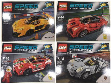 全新 LEGO SPEED CHAMPIONS 4盒