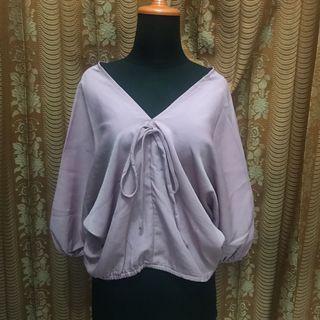 Pink batwing top