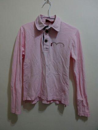 🚚 Levi's粉色 polo衫