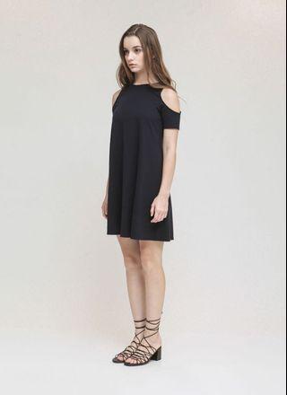 Cloth Inc Terra Cut Out Shoulder Dress