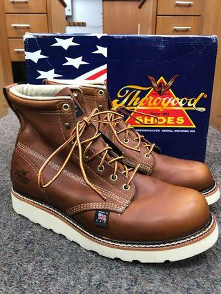 Thorogood Round Toe US8.5EE Brown Leather Classic