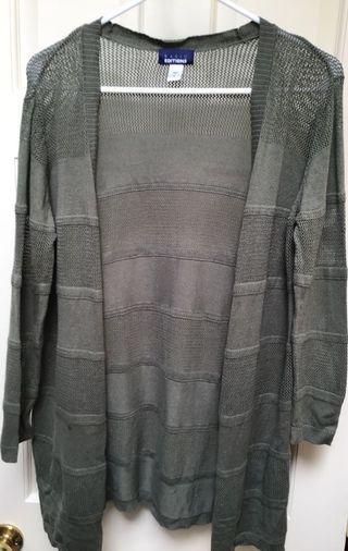 Women's khaki spring/summer long sweater