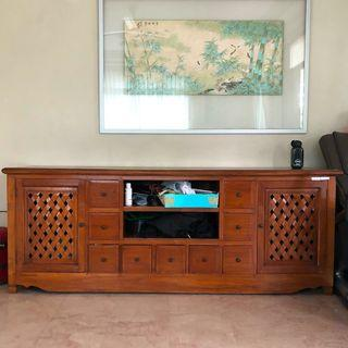 Solid teak wood long cabinet/credenza [REDUCED]