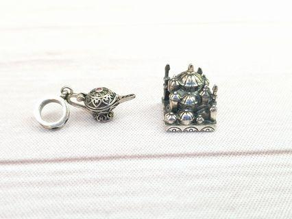 Aladdin 925 Sterling Silver Charms fits Pandora Magic Lamp Palace #endgameyourexcess