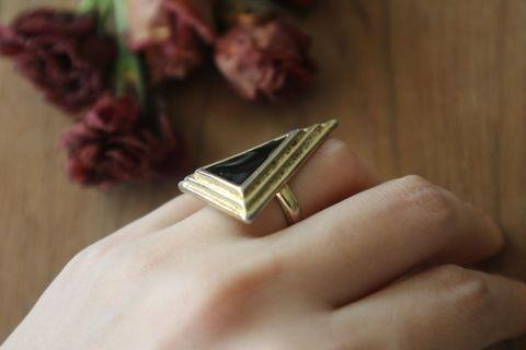 戒指|金字塔 三角